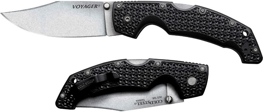 Cold Steel's Voyager LG Clip Point Plain Edge Folding Knife